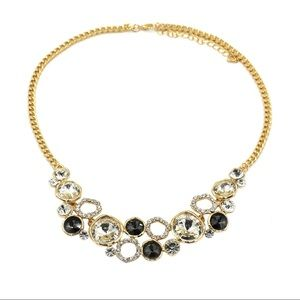 Fashion gold black laps crystal necklace